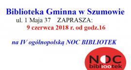 IV Ogólnopolska Noc Bibliotek w Szumowie - zapraszamy!