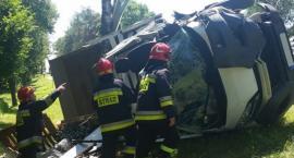 Ciężarówki zderzyły się na DK63 [foto]