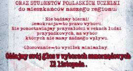 Kadra akademicka i studenci podlaskich uczelni apelują o udział w wyborach