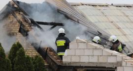 Pożar obory w Podłatkach [foto+video]