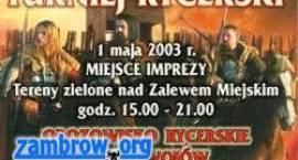 1 maja odbędzie się Turniej Rycerski w Zambrowie.