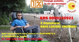 Przekaż 1% podatku na rzecz niepełnosprawnego Łukasza