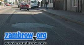 Remont drogi krajowej w centrum miasta