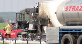 Ciężarówka zapaliła się na krajowej
