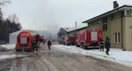 Trwa pożar hali przemysłowej [foto+video]