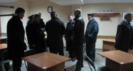 Funkcjonariusze litewskiego więziennictwa w Czerwonym Borze