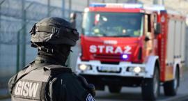 Ćwiczenia ochronno-obronne w Zakładzie Karnym w Czerwonym Borze
