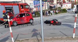 Dwa wypadki z udziałem motocyklistów [foto+video]