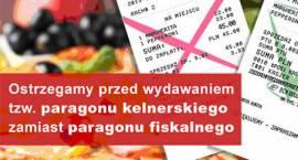 Rachunek kelnerski nie może zastąpić paragonu fiskalnego