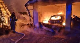 Pożar na 3 posesjach w Długoborzu [foto]