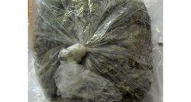 Przewoził ponad kilogram marihuany i niebezpieczne przedmioty