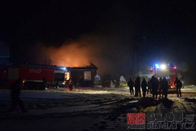 Pożary - straż, Tragiczny pożar Sypniach Starych - zdjęcie, fotografia