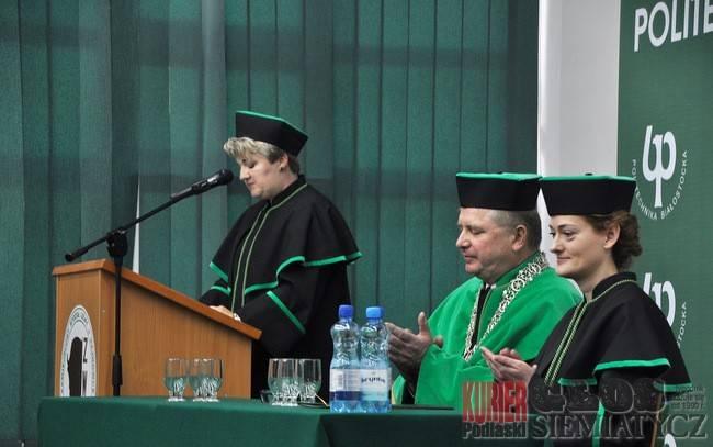 Szkoły - edukacja, Podwójna uroczystość Politechnice Białostockiej Hajnówce - zdjęcie, fotografia