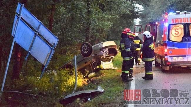 Wypadki drogowe, Wypadek Jedna osoba szpitalu - zdjęcie, fotografia