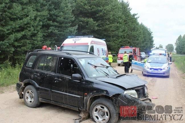 Wypadki drogowe, Śmiertelne dachowanie - zdjęcie, fotografia