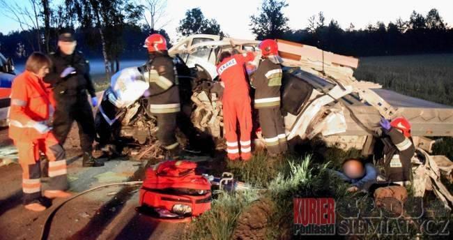 Wypadki drogowe, Wypadek osoby żyją ranne - zdjęcie, fotografia