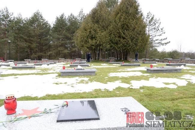 Odnowiony cmentarz żołnierzy Armii Czerwonej.