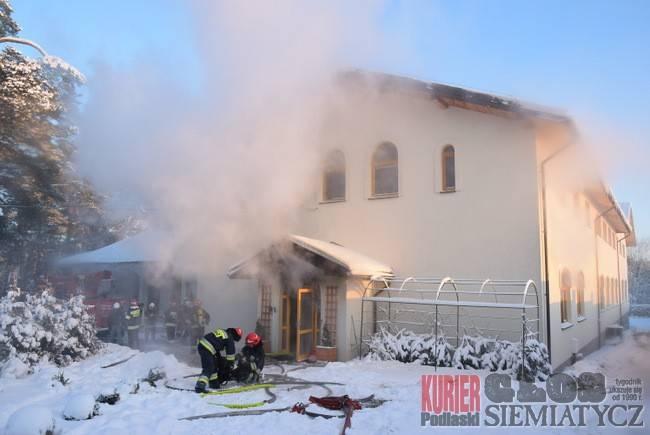Pożary - straż, Grabarka Pożar Pielgrzyma - zdjęcie, fotografia