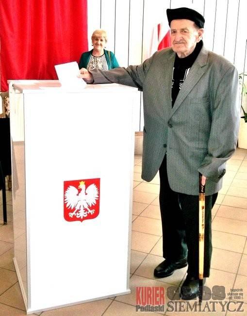 Grodzisk - Najstarszy wyborca