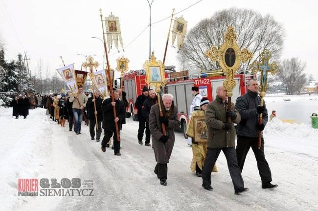 Religia, Siemiatycze Jordan Święto Chrztu Pańskiego stycznia - zdjęcie, fotografia