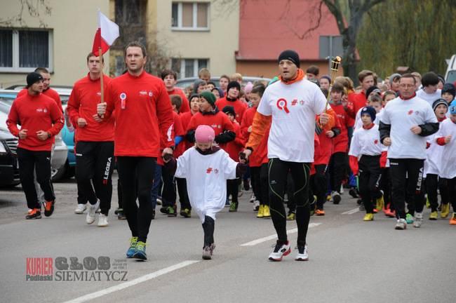 Bieganie , Siemiatycze Sztafeta Niepodległości - zdjęcie, fotografia