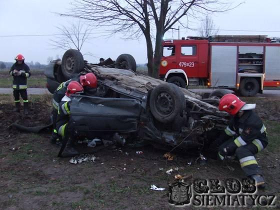 Wypadek koło Dołubowa