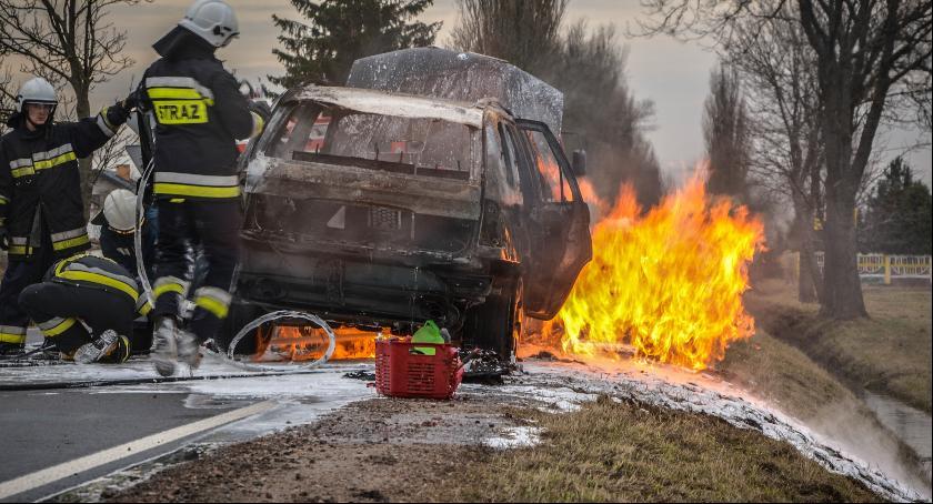 Pożary - straż, Spłonęło - zdjęcie, fotografia