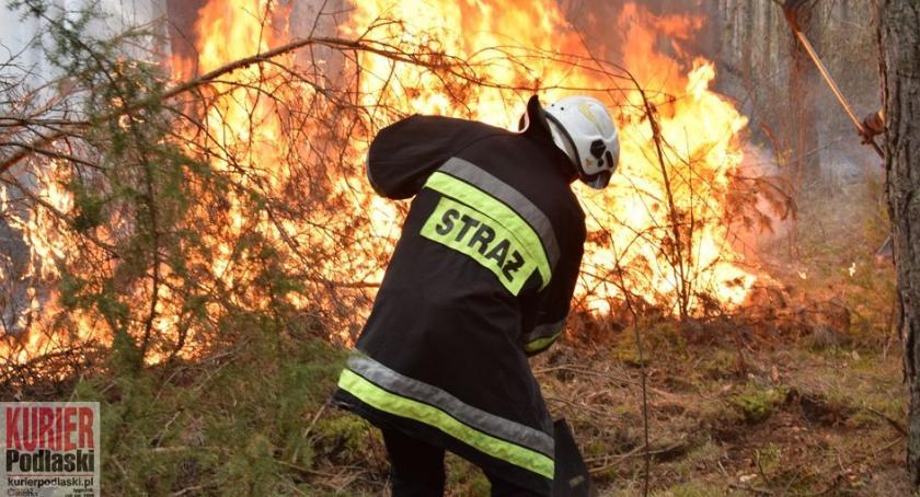 Pożary - straż, Bezmyślność przyczyną pożaru - zdjęcie, fotografia