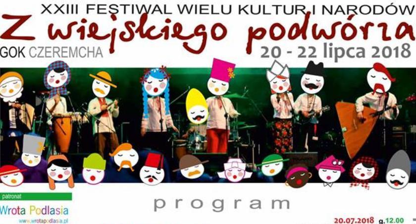 Muzyka - Koncerty, XXIII Festiwal Wielu Kultur Narodów wiejskiego podwórza - zdjęcie, fotografia