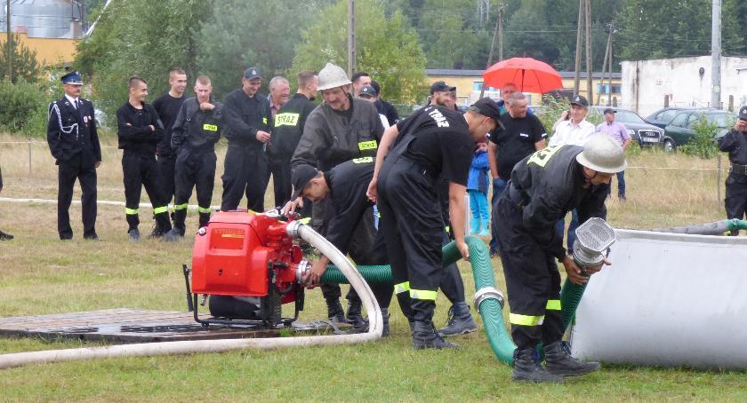 Pożary - straż, Dubno pierwsze zawodach Boćkach - zdjęcie, fotografia