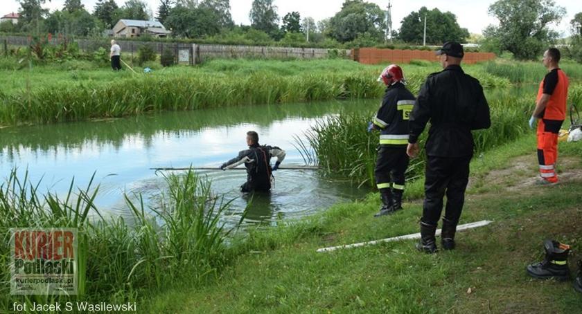 Pożary - straż, Siemiatyczach utonął człowiek - zdjęcie, fotografia
