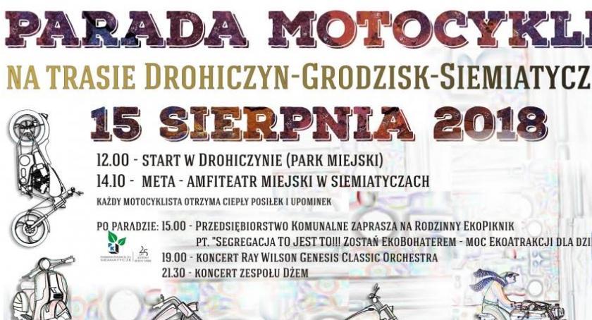 Święta i uroczystości, Parada Motocykli Drohiczyn Grodzisk Siemiatycze - zdjęcie, fotografia