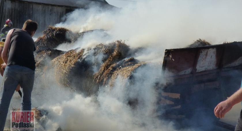 Pożary - straż, Pożar słomy Osmoli - zdjęcie, fotografia