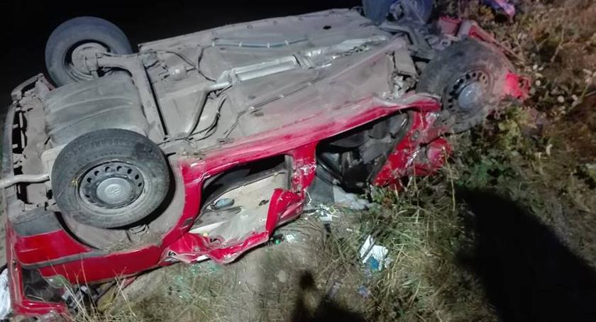 Wypadki drogowe, Pijany sprawca wypadku - zdjęcie, fotografia