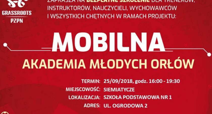 Piłka nożna, Mobilna Akademia Młodych Orłów Siemiatyczach - zdjęcie, fotografia