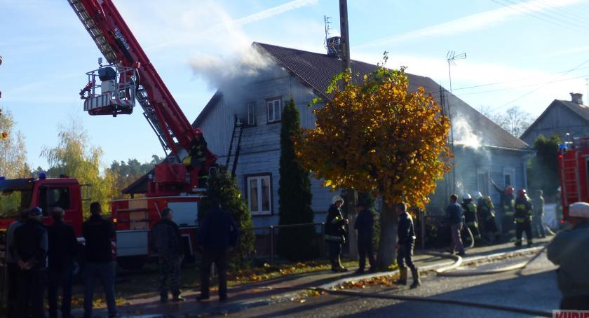 Pożary - straż, Pożar Milejczycach - zdjęcie, fotografia