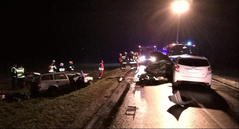 Wypadki drogowe, Śmiertelny wypadek Boćkach - zdjęcie, fotografia