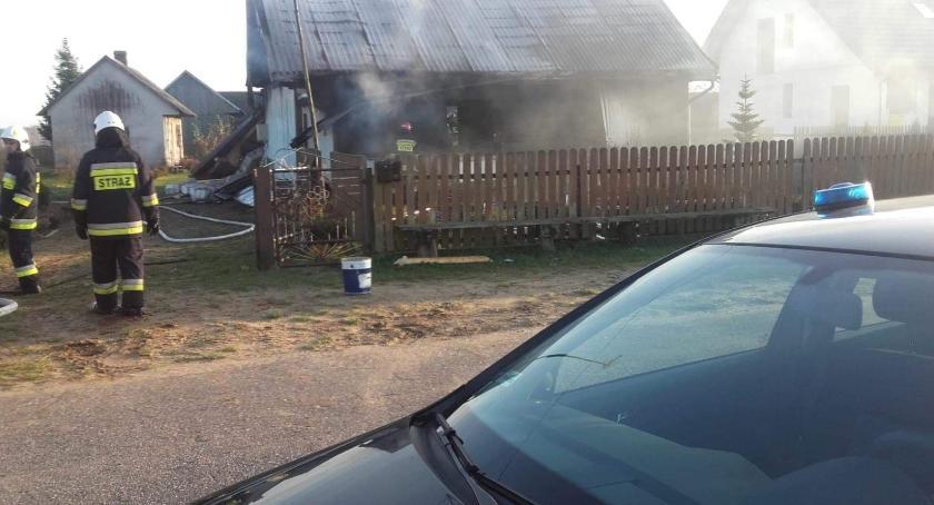 Pożary - straż, Tragiczny wybuch - zdjęcie, fotografia