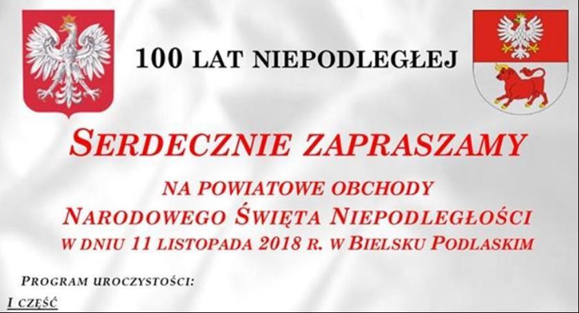 Święta i uroczystości, Obchody Święta Niepodległości Bielsku Podlaskim - zdjęcie, fotografia