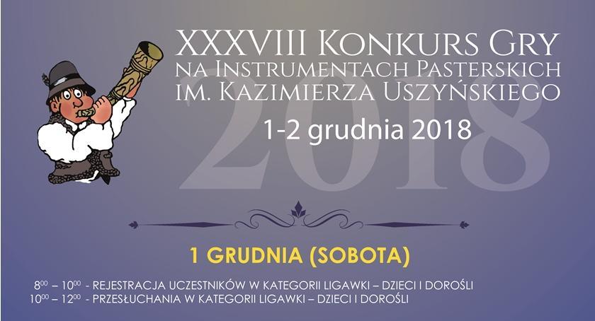 Muzyka - Koncerty, XXXVIII Konkurs Instrumentach Pasterskich Kazimierza Uszyńskiego - zdjęcie, fotografia