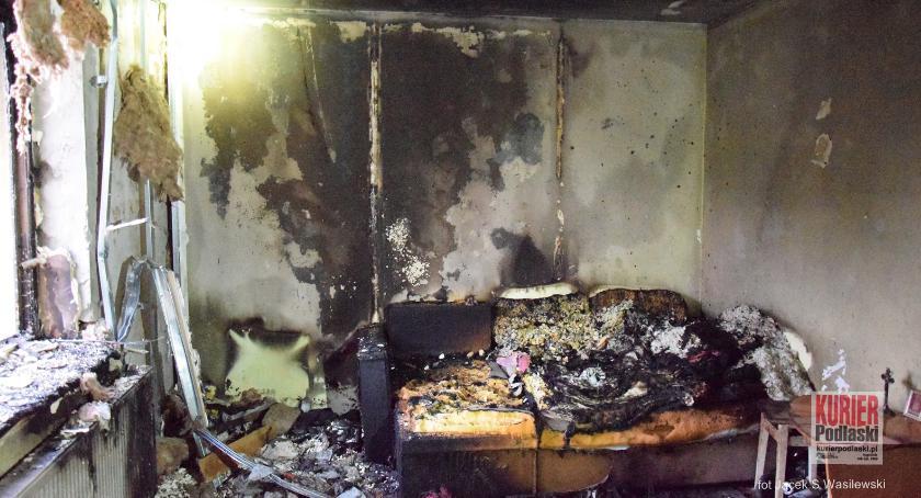 Pożary - straż, podpalony ciągu jednego - zdjęcie, fotografia