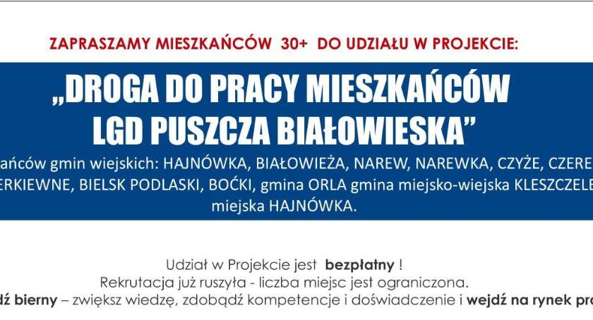 """Fundusze Europejskie, Droga pracy mieszkańców Puszcza Białowieska"""" - zdjęcie, fotografia"""