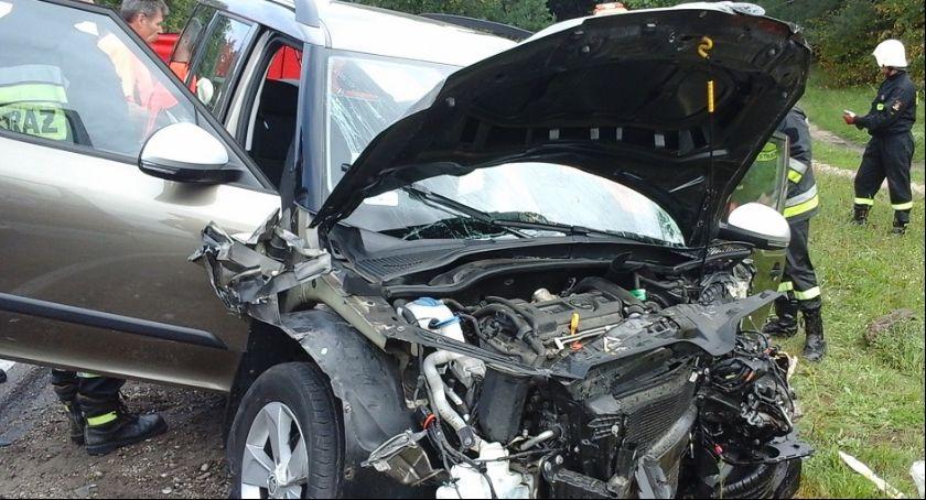 Wypadki drogowe, Wypadek żyją osoby - zdjęcie, fotografia