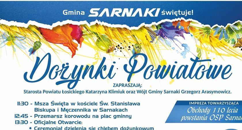 Święta i uroczystości, Dożynki Powiatowe Sarnakach - zdjęcie, fotografia