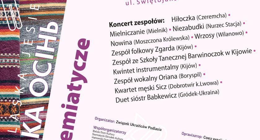"""Muzyka - Koncerty, XXVIII Festiwal Kultury Ukraińskiej Podlasiu """"Podlaska Jesień - zdjęcie, fotografia"""