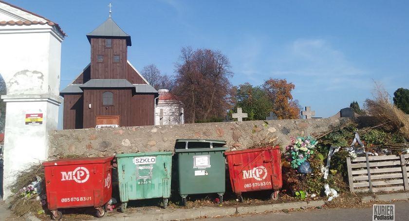 Ekologia , listopada chryzantem zniczy odpadów - zdjęcie, fotografia