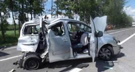 Wypadek drogowy koło Pilik