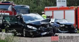 Wypadek na skrzyżowaniu do Grabarki