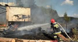 Duży pożar w Moszczonie