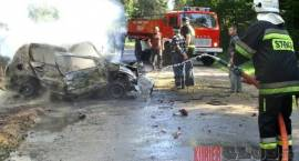 Radziwiłówka - Tragedia na drodze. Mężczyzna spłonął w aucie